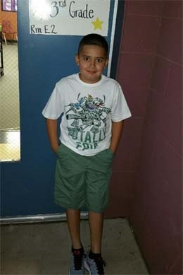 10. Michael first day 3rd grade.png