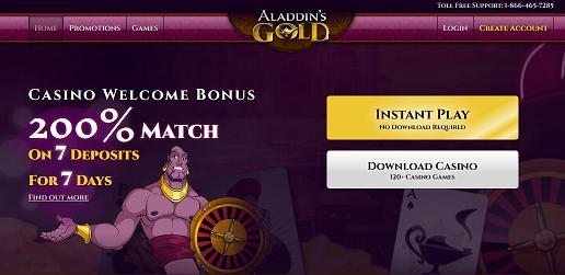 Aladdin's Gold no deposit forum.png
