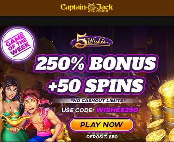 Captain Jack Casino WISHES250 No Deposit Forum.png