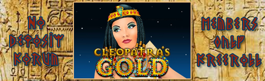 Cleopatra's Gold freeroll newsletter.jpg