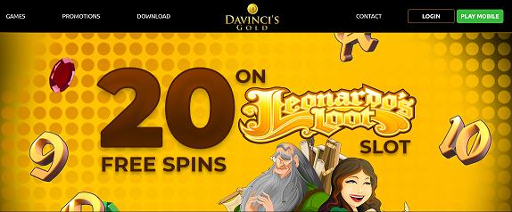 DaVinci's Gold no deposit forum.png