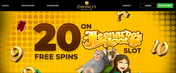 DaVinci's Gold no deposit forum.png