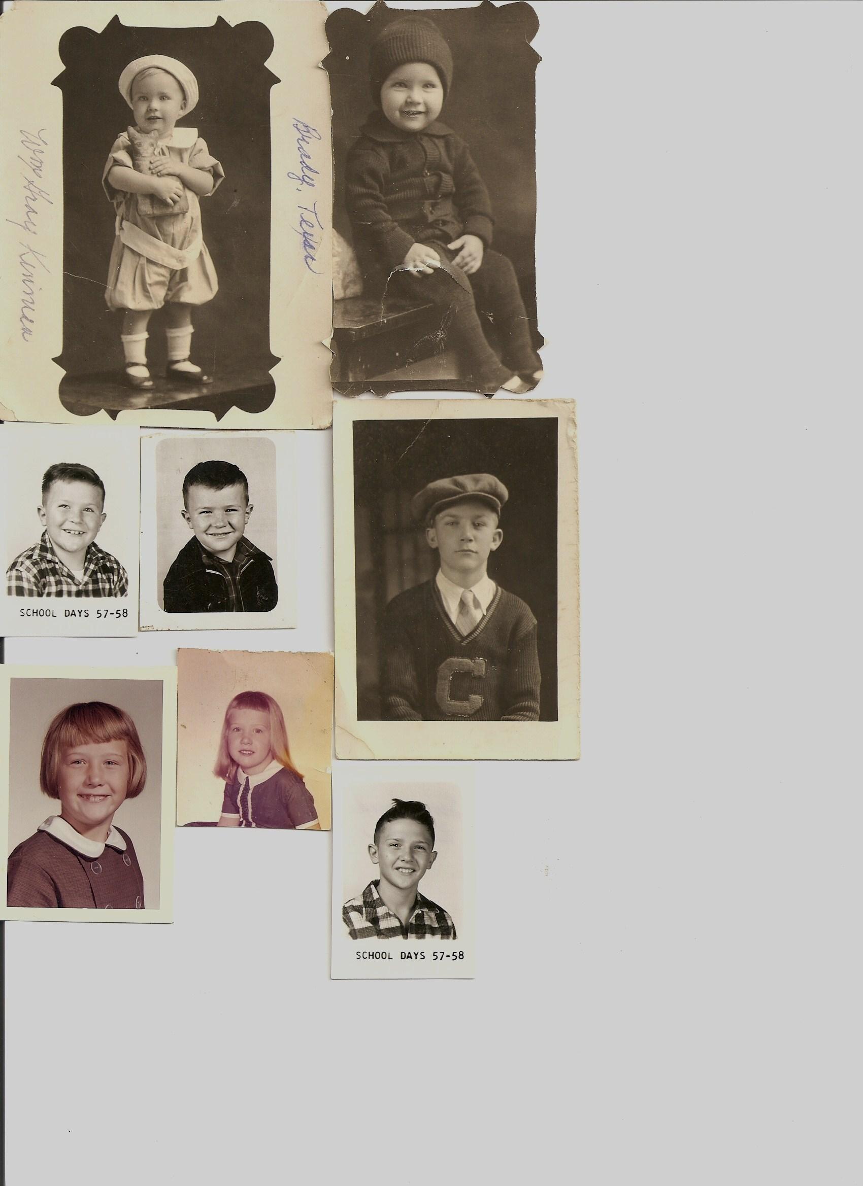Kinmans as kids - Bill Michael Sam Kathy Omarie.jpg